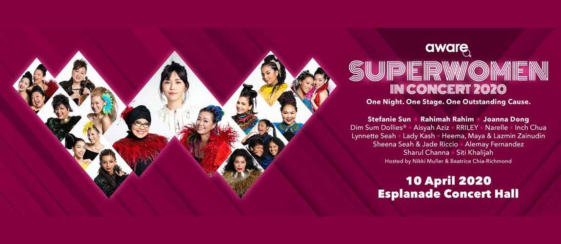 """AWARE presents """"Superwomen in Concert"""""""