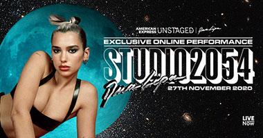 Studio 2054: Dua Lipa's Exclusive Online Performance